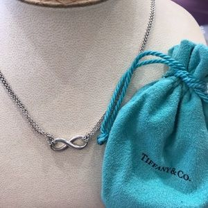 """Tiffany & Co Infinity Necklace double chain 16"""""""